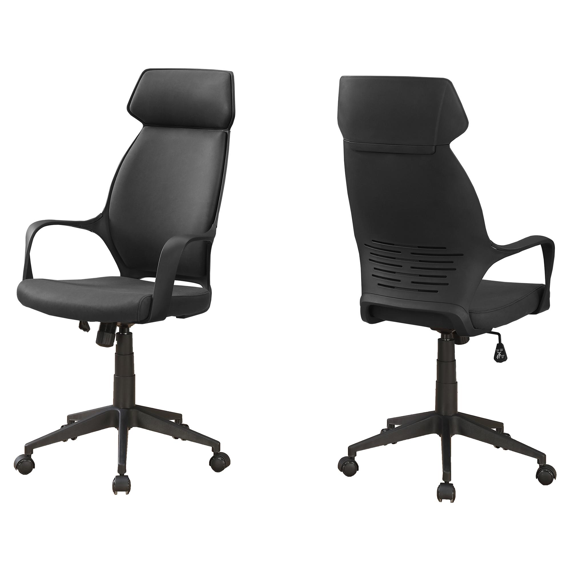 "26"" x 25"" x 96"" Black  Foam  Polypropylene  Microfiber  High Back Office Chair"