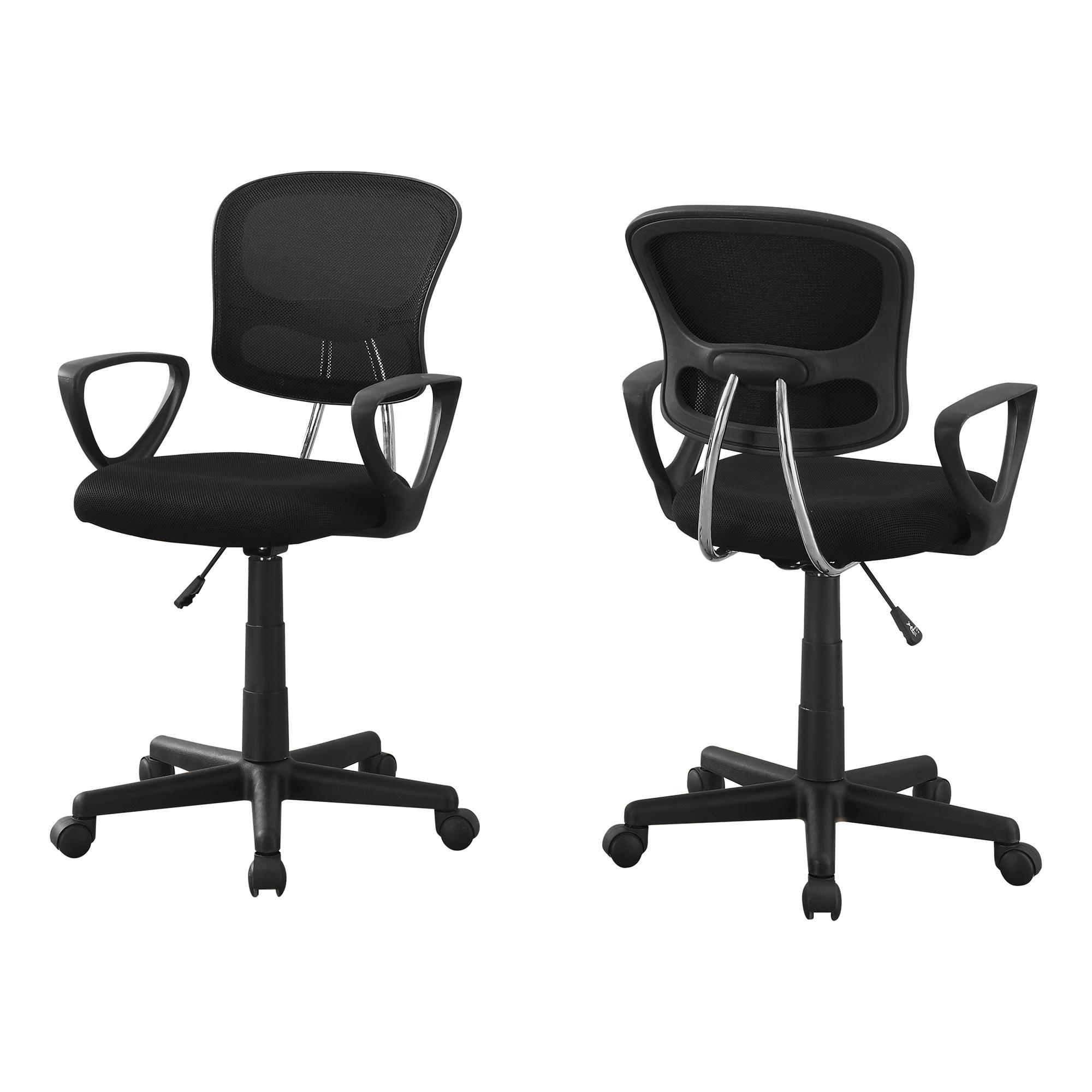"21.5"" x 23"" x 33"" Black Foam Metal Polypropylene Polyester  Office Chair"