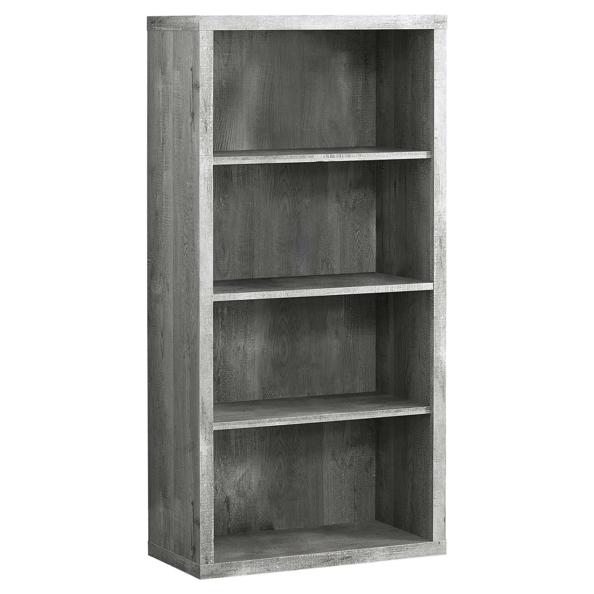"11.75"" x 23.75"" x 47.5"" Grey Particle Board Adjustable Shelves  Bookshelf"