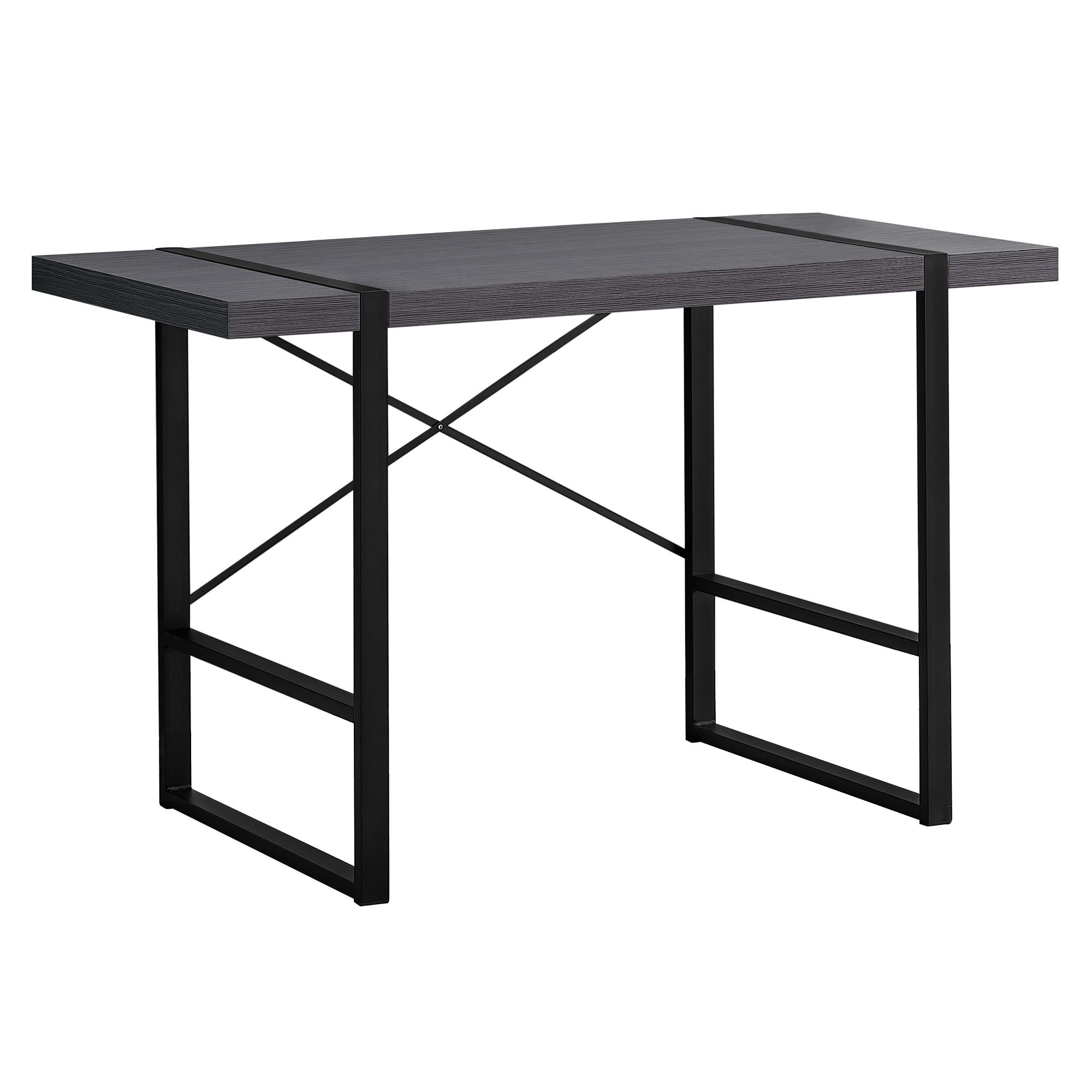"23.75"" x 49"" x 30"" GreyBlack Metal  Computer Desk"