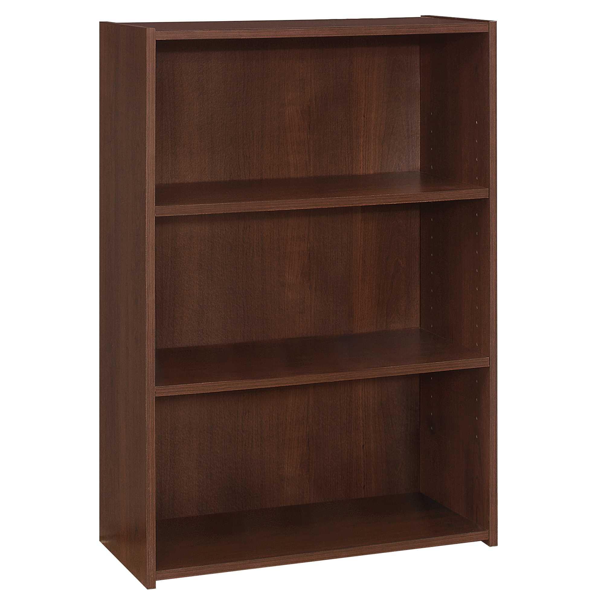 "11.75"" x 24.75"" x 35.5"" Cherry 3 Shelves  Bookcase"