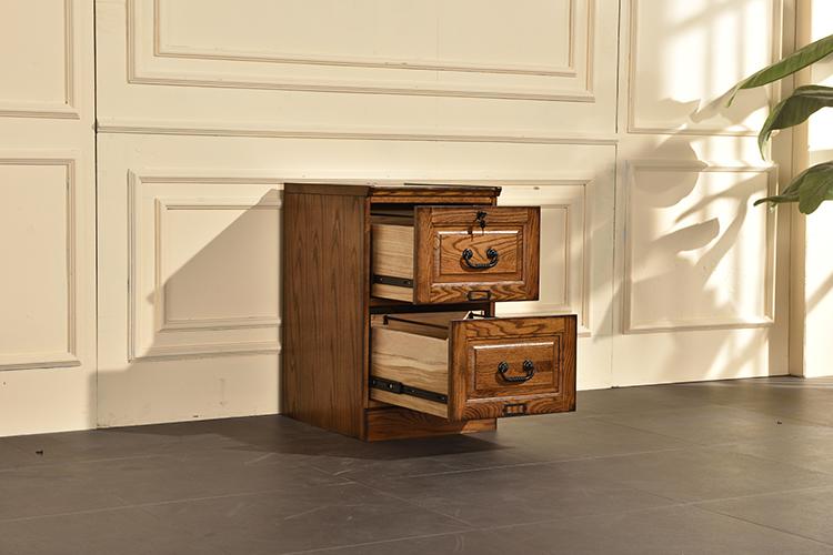 "18.5"" X 22"" X 30.25"" Burnished Walnut Hardwood Two Drawer File Cabinet"