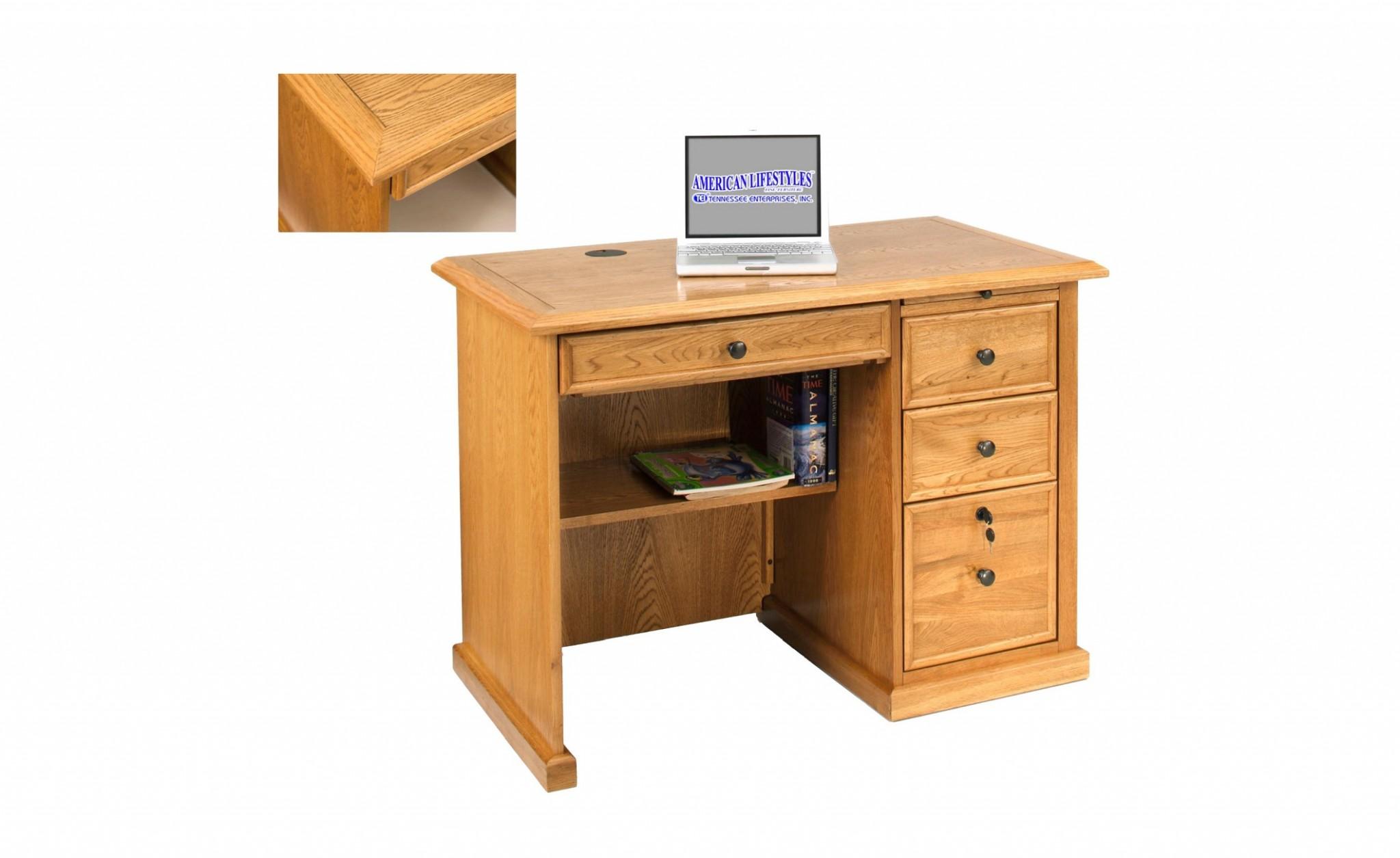 """42"""" X 24"""" X 30"""" Harvest Oak Hardwood Desk"""
