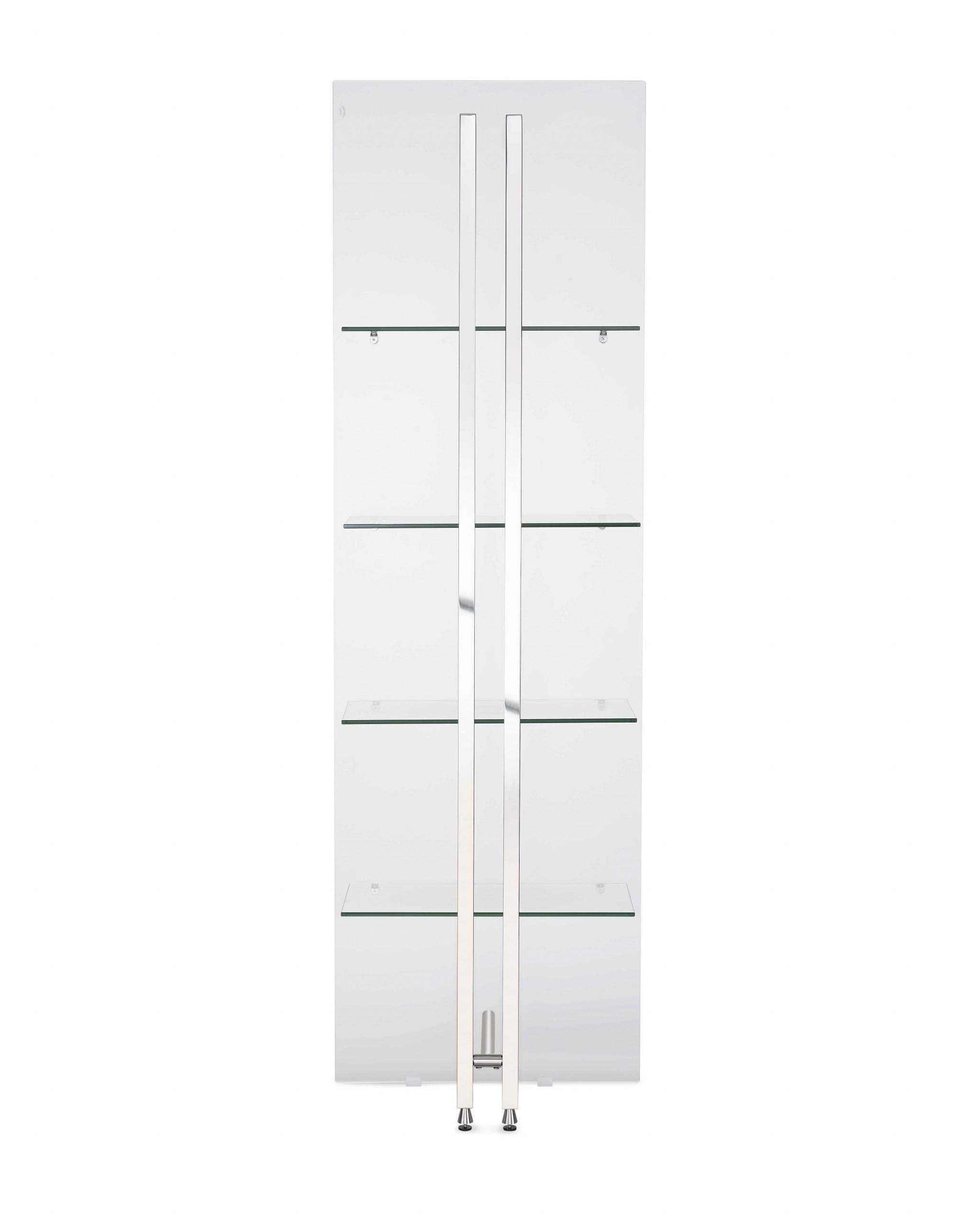"24"" X 13"" X 77"" Back Glass Bookshelf"