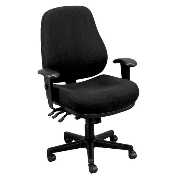 "26.8"" x 21"" x 38.5"" Black Tilt Tension Control Fabric Chair"