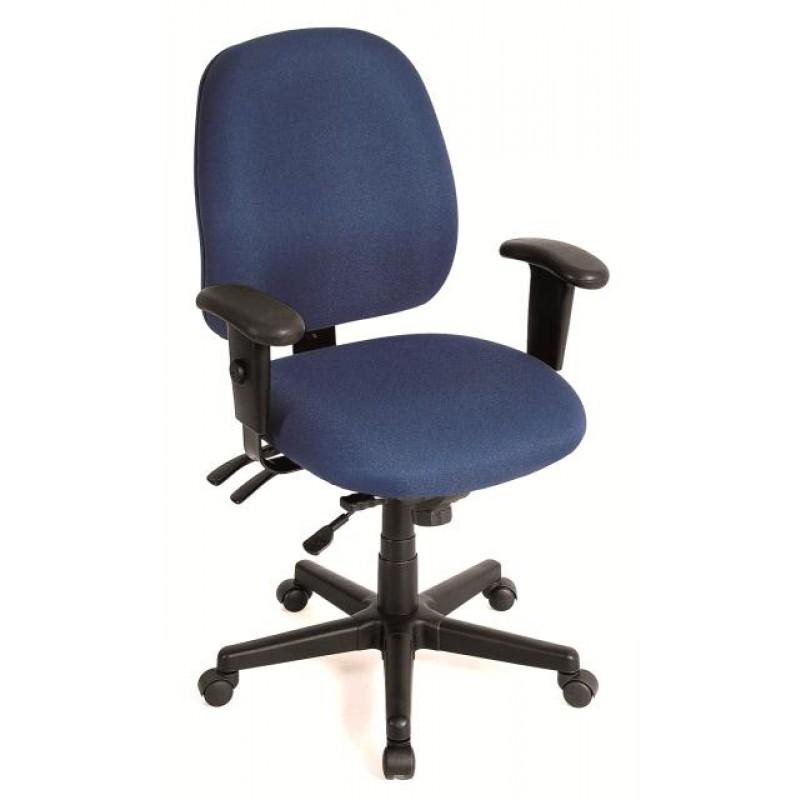 "29.5"" x 26"" x 37"" Navy Tilt Tension Control Fabric Chair"