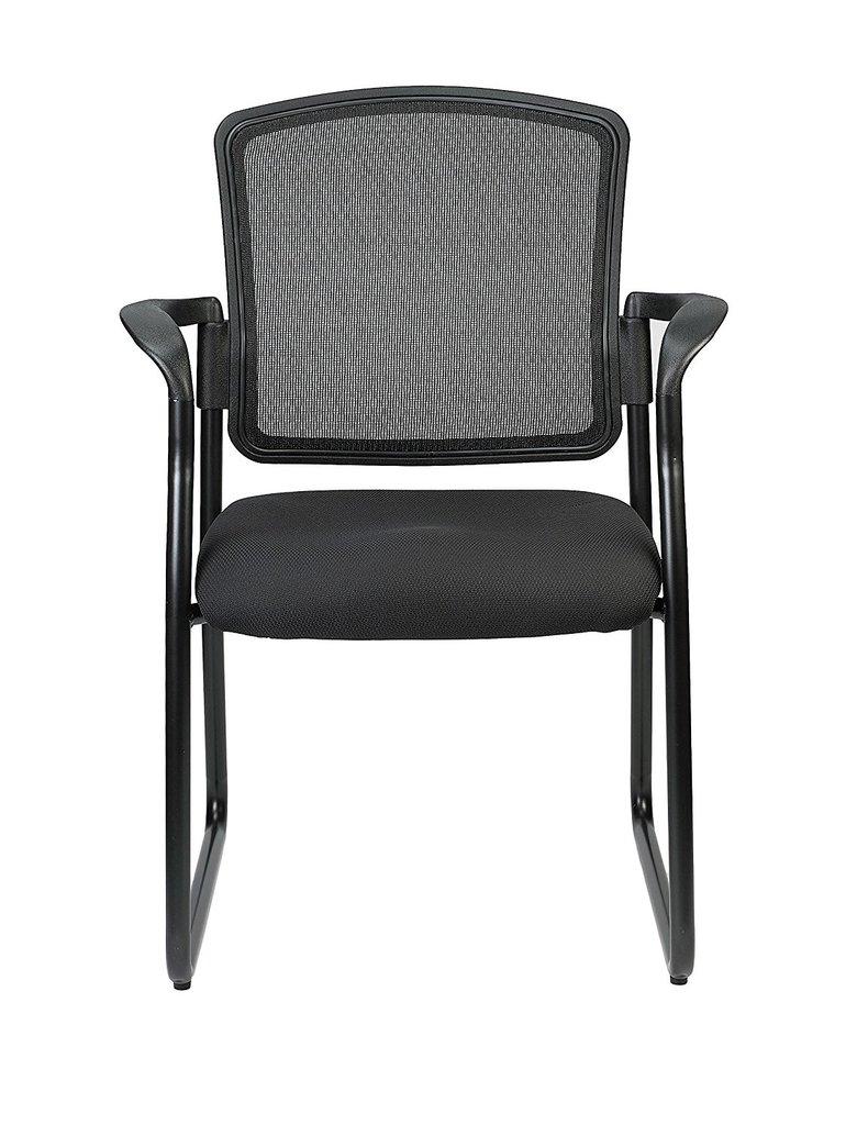 "25.5"" x 23.5"" x 35.5""Black Mesh Fabric Guest Chair"