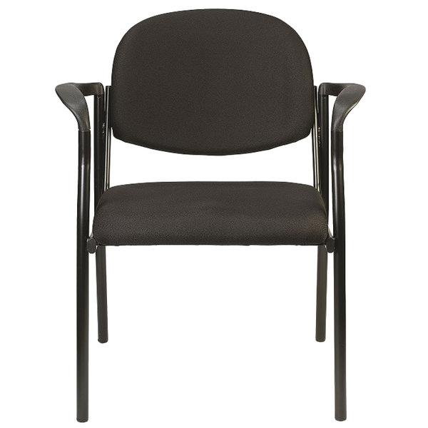 "26.8"" x 19"" x 32"" Black Fabric Guest Chair"