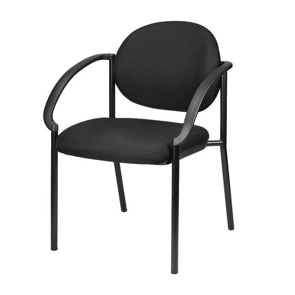 "24"" x 19.7"" x 32.3"" Black, Fabric, Stack Chair"