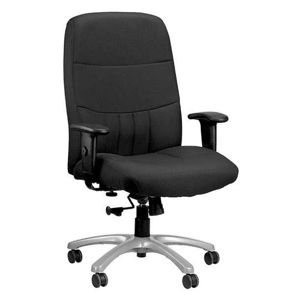 "30"" x 30.5"" x 42"" Black Fabric Chair"