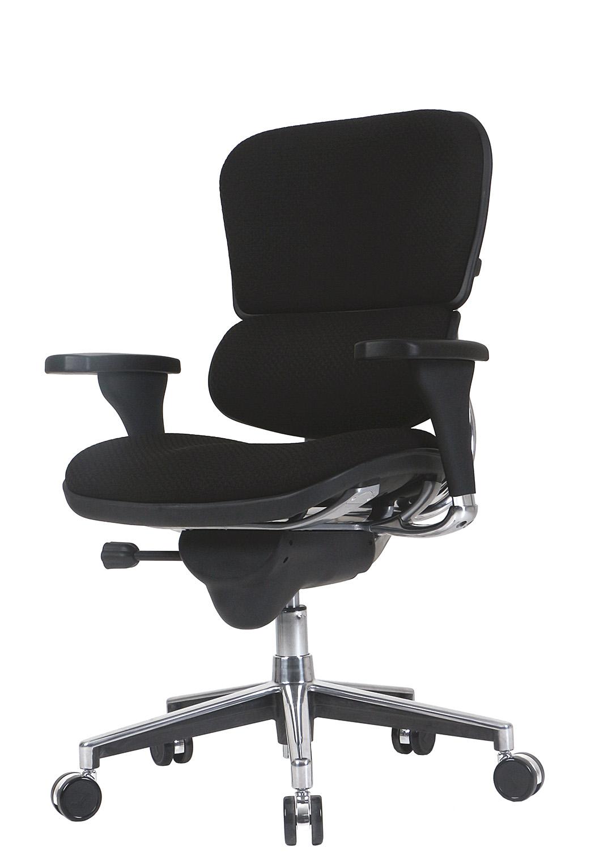 "26.5"" x 29"" x 39.5"" Black Fabric Chair"