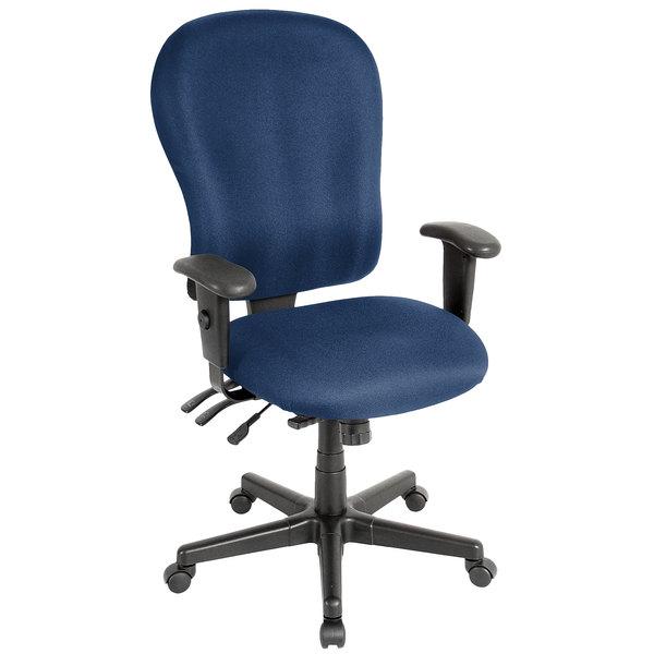 "29"" x 26"" x 40.5"" Navy Fabric Chair"