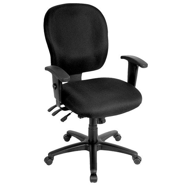 "26"" x 25"" x 37"" Black Fabric Chair"