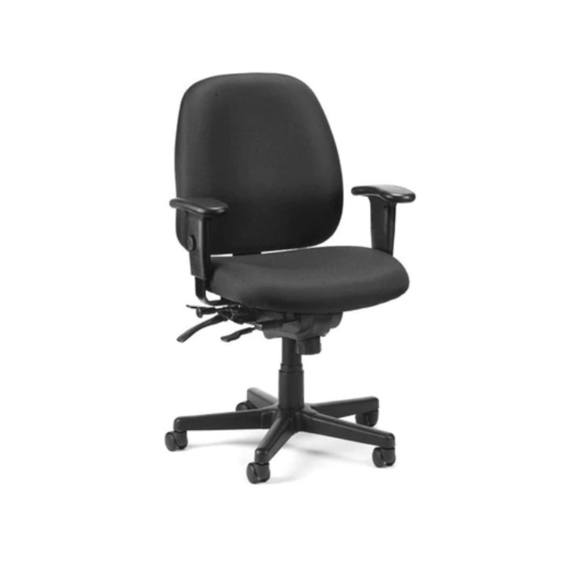 "29.5"" x 26"" x 37"" Charcoal Fabric Seat Slider Swivel"