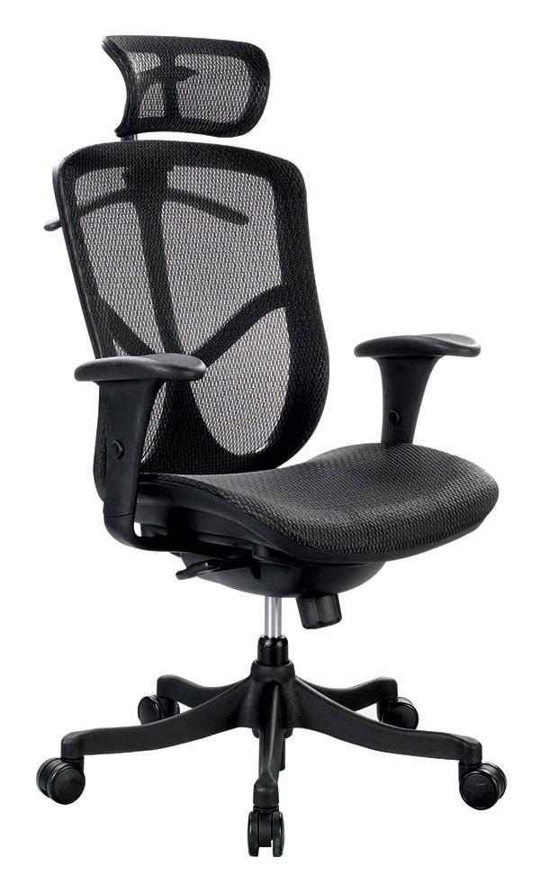 "26"" x 27.5"" x 40"" Black Mesh Low Tilt Chair"