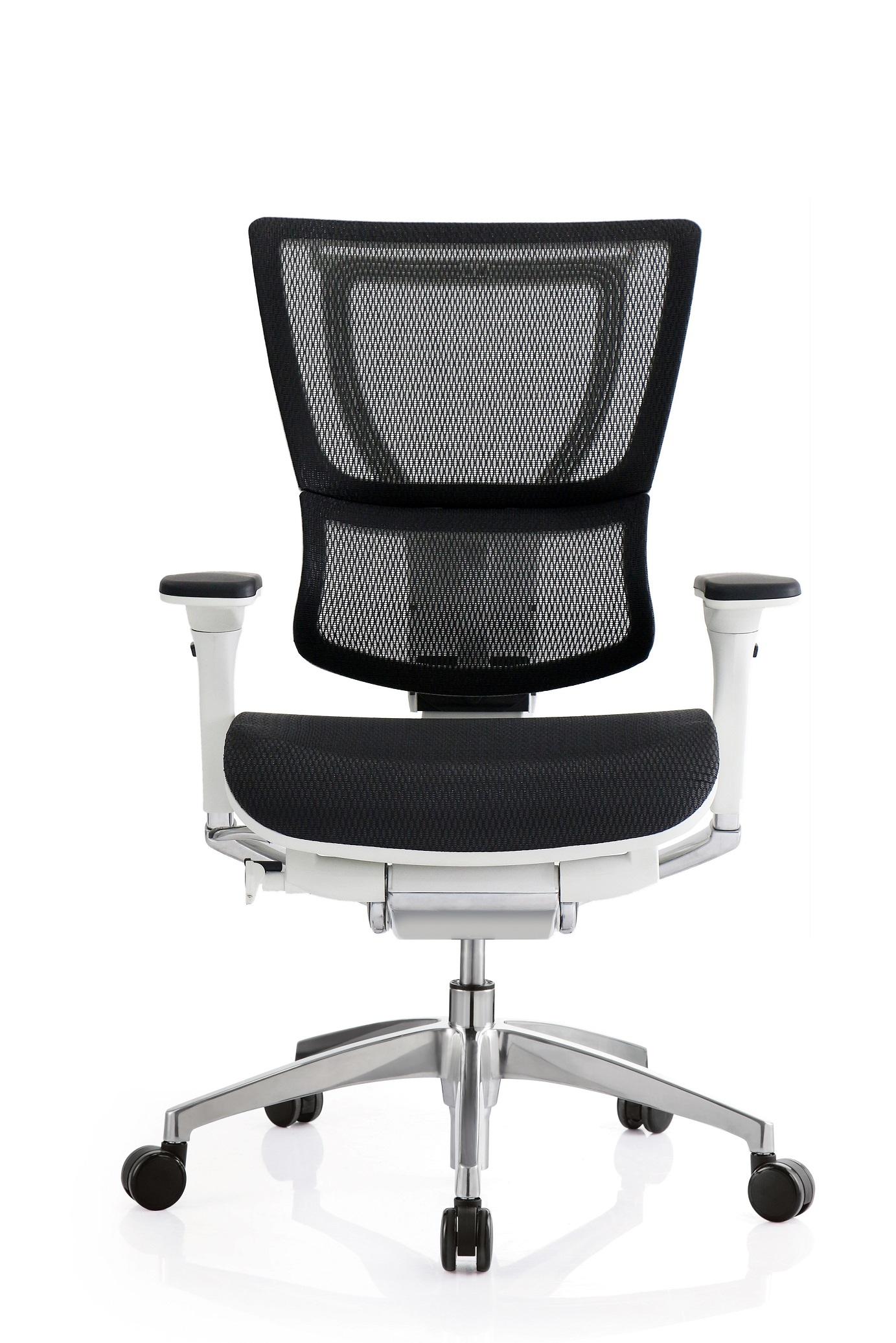"""26"""" x 26"""" x 40.8"""" White Mesh Tilt Tension Control Chair"""