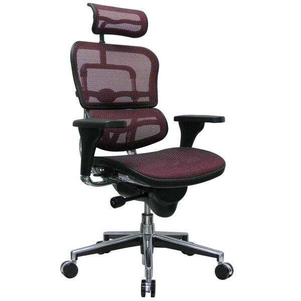 "26.5"" x 29"" x 46""  Plum Red Mesh Chair"
