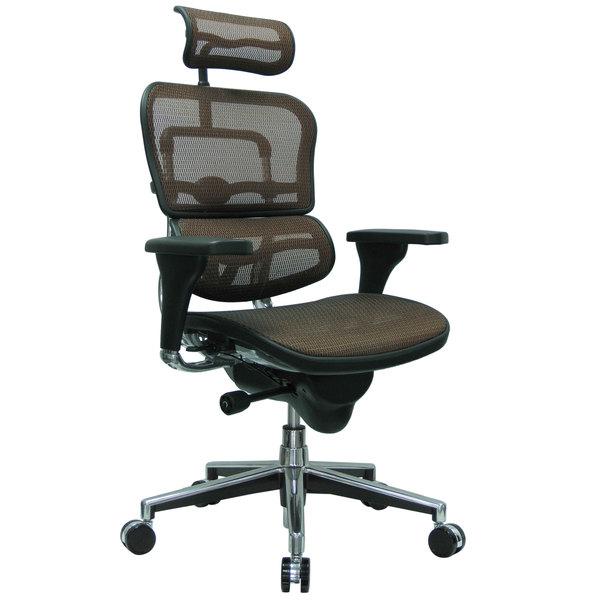 "26.5"" x 29"" x 46"" Orange Mesh Chair"