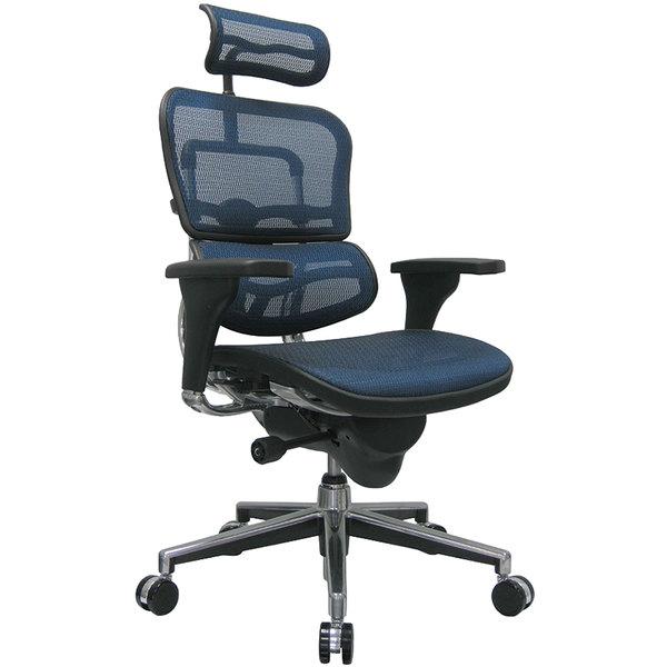 """26.5"""" x 29"""" x 46"""" Blue Mesh Chair"""