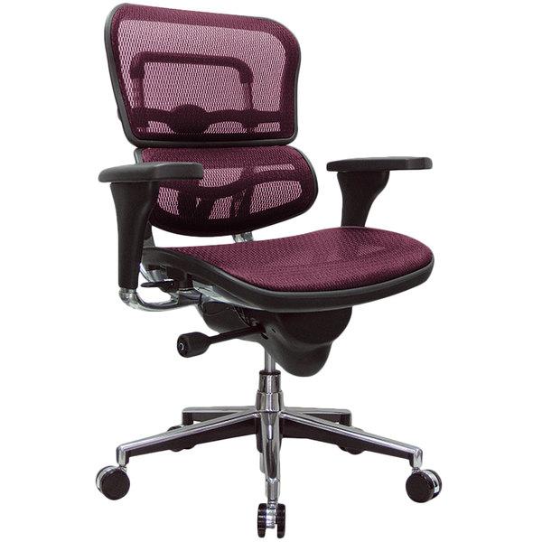 "26.5"" x 29"" x 39.5""  Plum Red Mesh Chair"