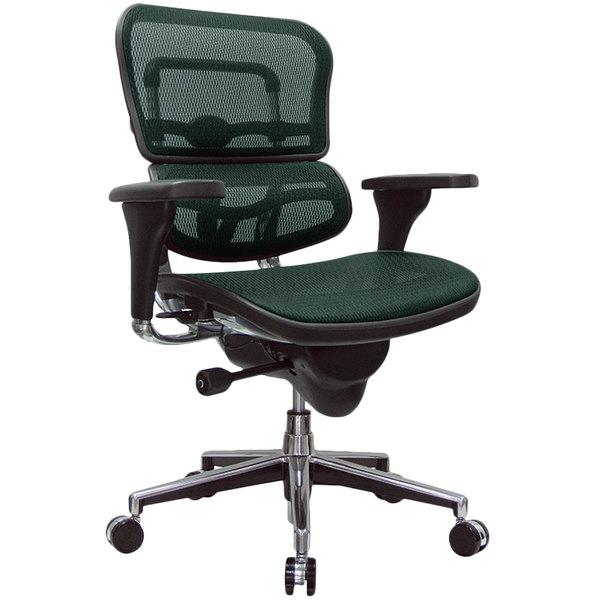 "26.5"" x 29"" x 39.5"" Green Mesh Chair"
