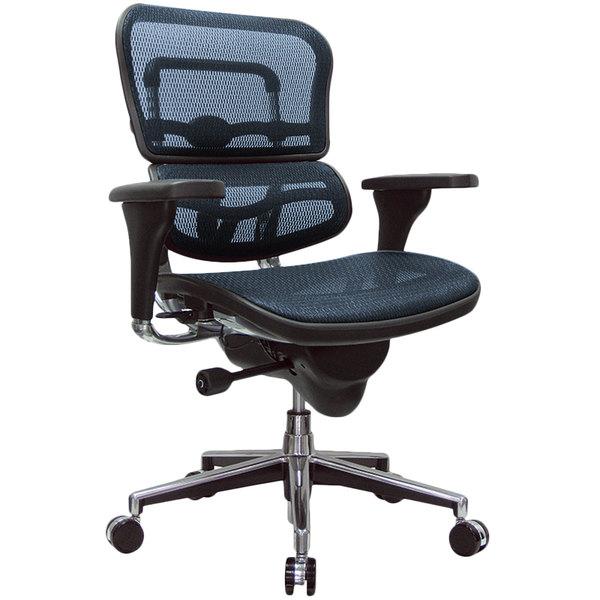 """26.5"""" x 29"""" x 39.5"""" Blue Mesh Chair"""
