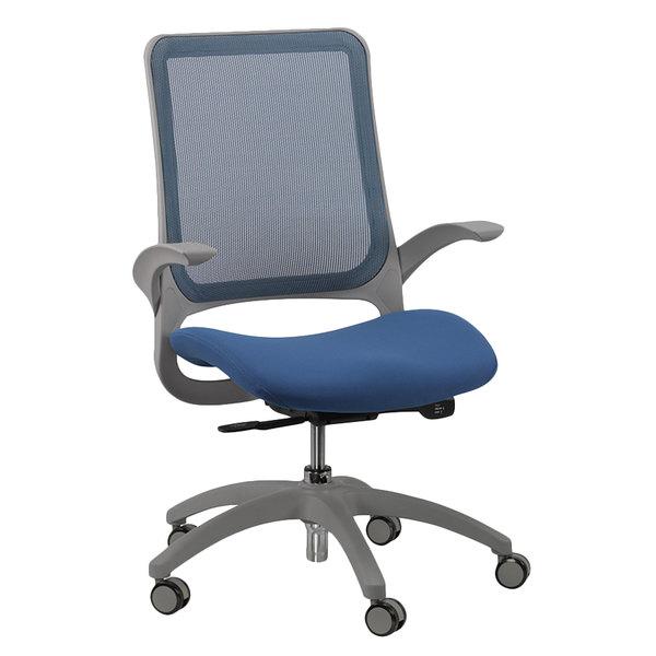 "24.4"" x 22.4"" x 38"" Blue Mesh / Fabric Office Chair"