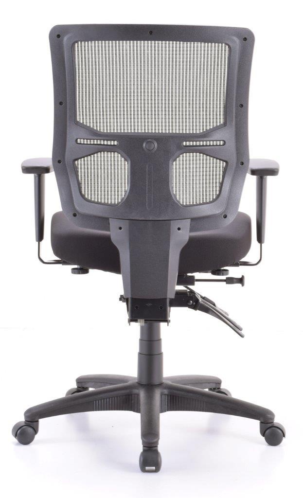 """26.4"""" x 24.8"""" x 37.4"""" Black  Mesh / Fabric Chair"""