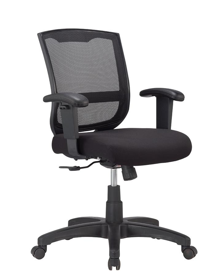 """27"""" x 27"""" x 40.9"""" Black  Mesh   Fabric Chair"""