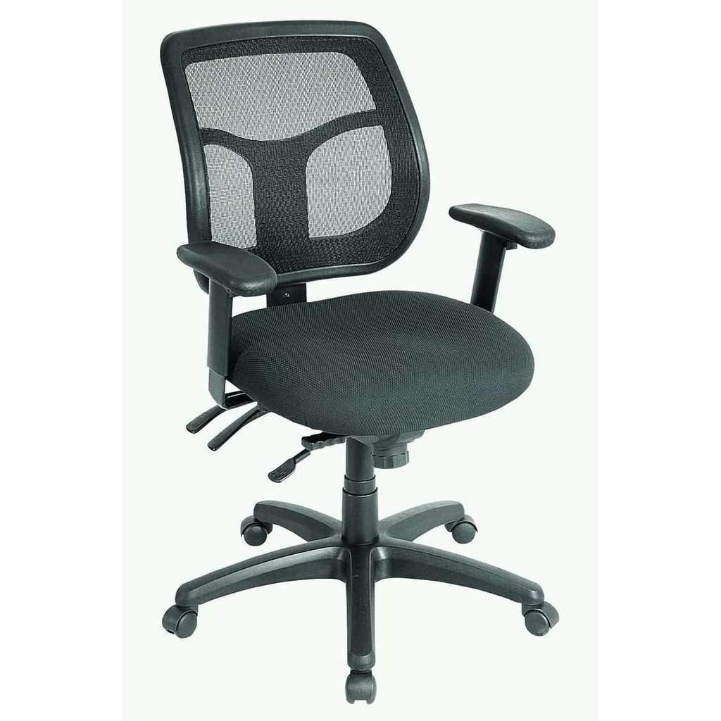 """26"""" x 20"""" x 36"""" Black Mesh   Fabric Chair"""