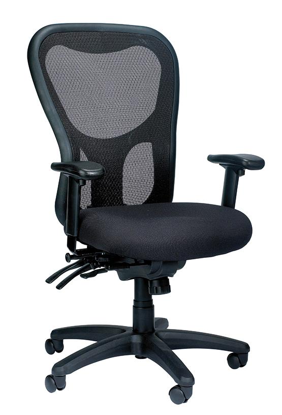 """26"""" x 24"""" x 41"""" Black  Mesh   Fabric Chair"""