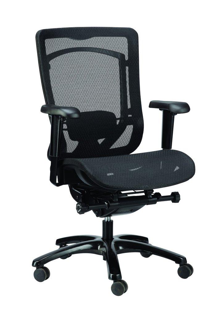 """26"""" x 27.6"""" x 40.9"""" Black Mesh Chair"""