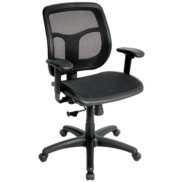 """26"""" x 20"""" x 36"""" Black Mesh Chair"""
