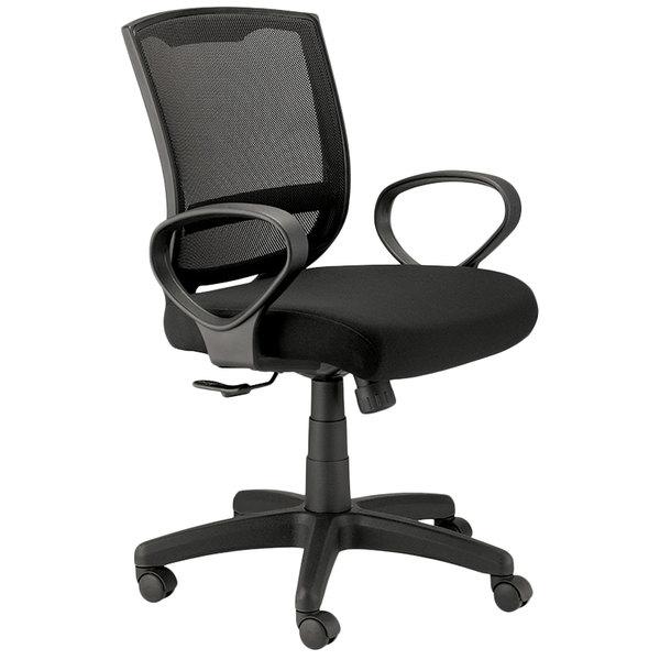 """24"""" x 21.45"""" x 36"""" Black Mesh Chair"""