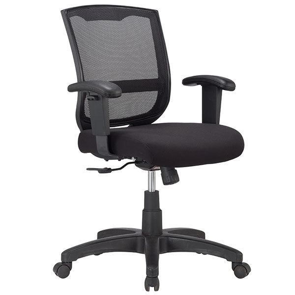 """25"""" x 21.45"""" x 36"""" Black Mesh   Fabric Chair"""