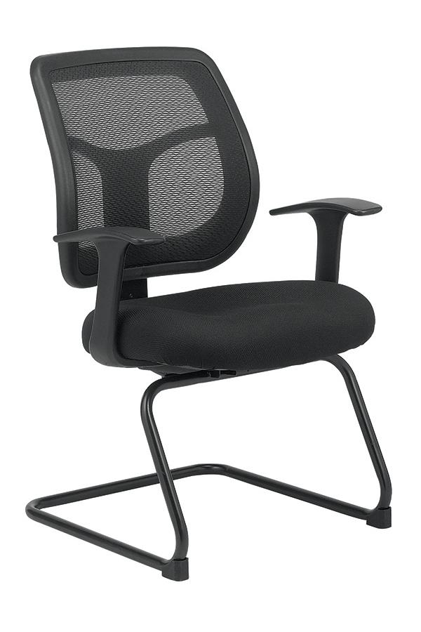 "24"" x 20"" x 36""  Black Mesh / Fabric Guest Chair"