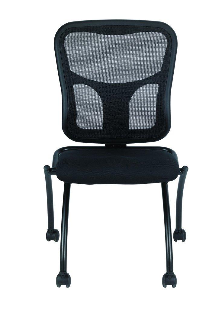 "20.5"" x 24.5"" x 37.5"" Black Mesh / Fabric Guest Chair"