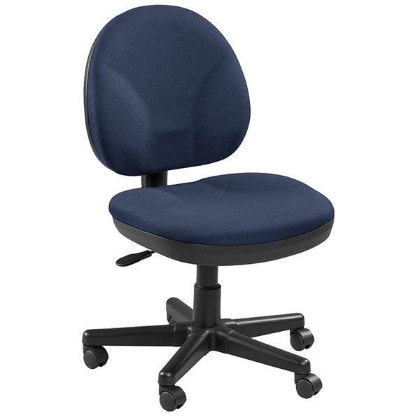 "20"" x 24"" x 36"" Blue Fabric Chair"