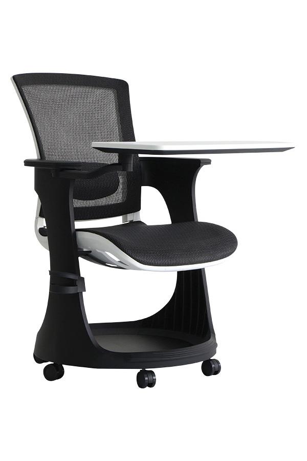 "25"" x 25.4"" x 36.8"" Black Elastic Mesh Seat and Back Chair"