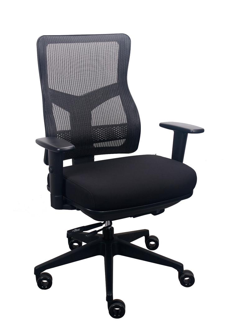 """26.5"""" x 23"""" x 36.69"""" Black Mesh / Fabric Chair"""