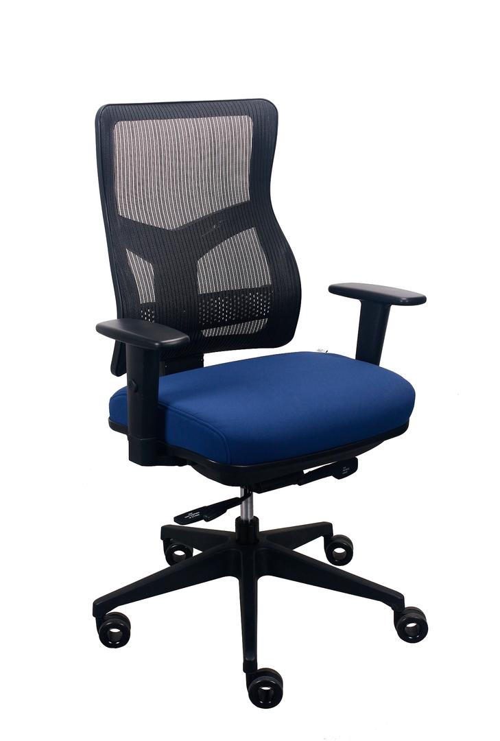 """26.5"""" x 23"""" x 36.69"""" Navy Mesh / Fabric Chair"""