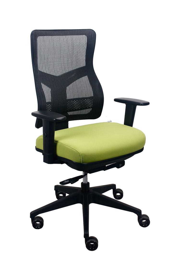 "26.5"" x 23"" x 36.69"" Green Mesh/Fabric Chair"