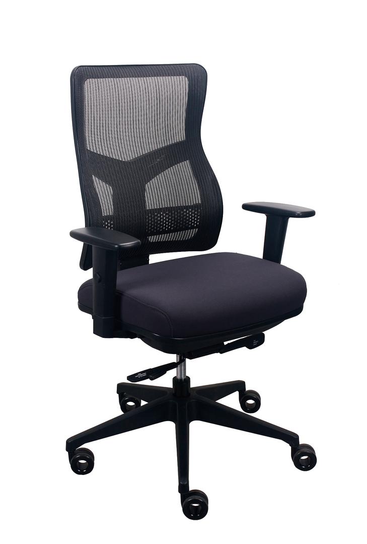 """26.5"""" x 23"""" x 36.69"""" Charcoal Mesh/Fabric Chair"""