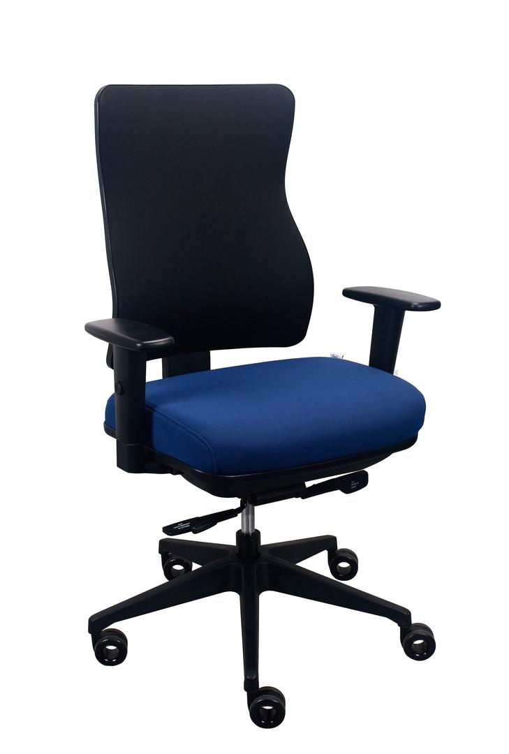 "26.5"" x 23"" x 36.69"" Blue Seat Fabric Chair"