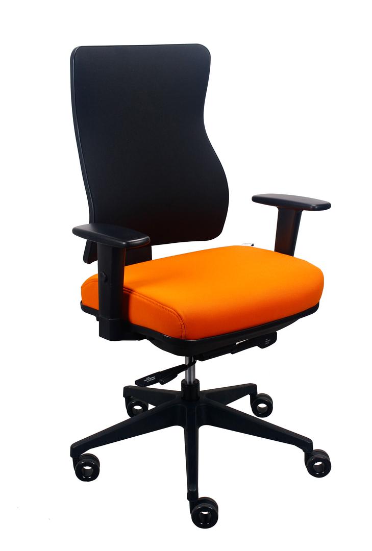 "26.5"" x 23"" x 36.69"" Orange Seat Fabric Chair"
