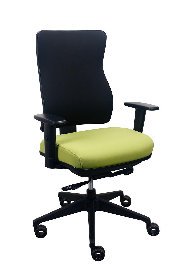 "26.5"" x 23"" x 36.69"" Light Green Fabric Chair"