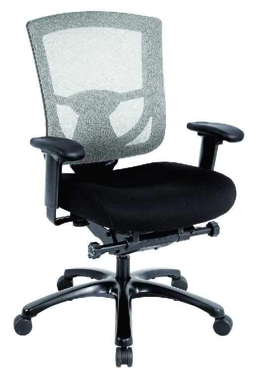 """27.2"""" x 25.6"""" x 39.8"""" Black Mesh / Fabric Chair"""