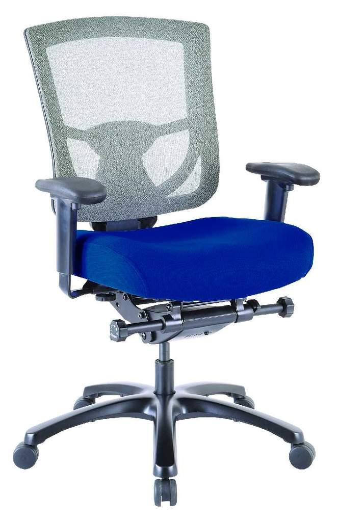 "27.2"" x 25.6"" x 39.8"" Blue Mesh/Fabric Chair"