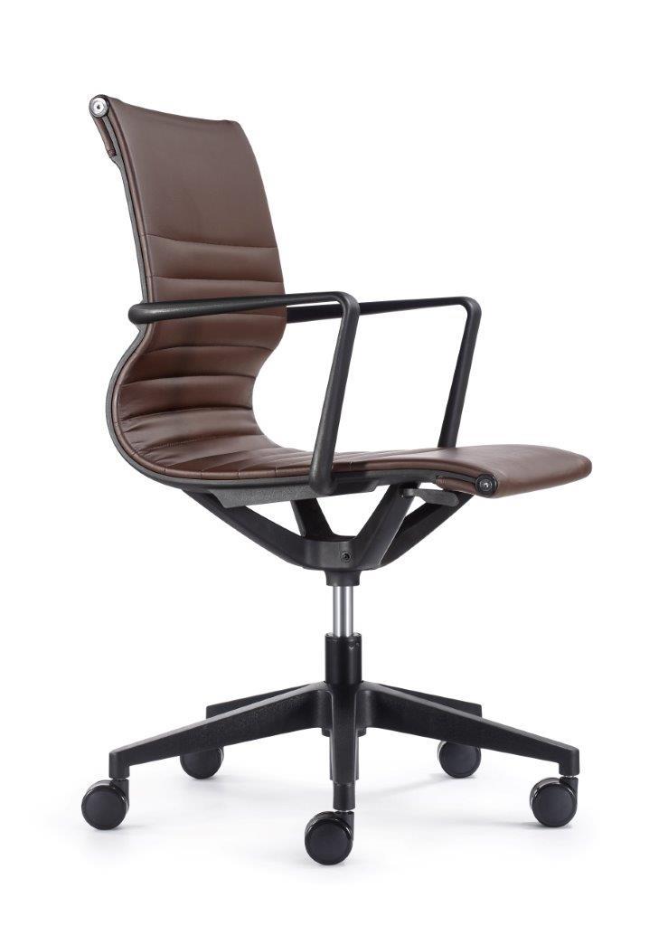 """23.8"""" x 20.8"""" x 35.8"""" Brown Vinyl Felx Tilt Chair"""