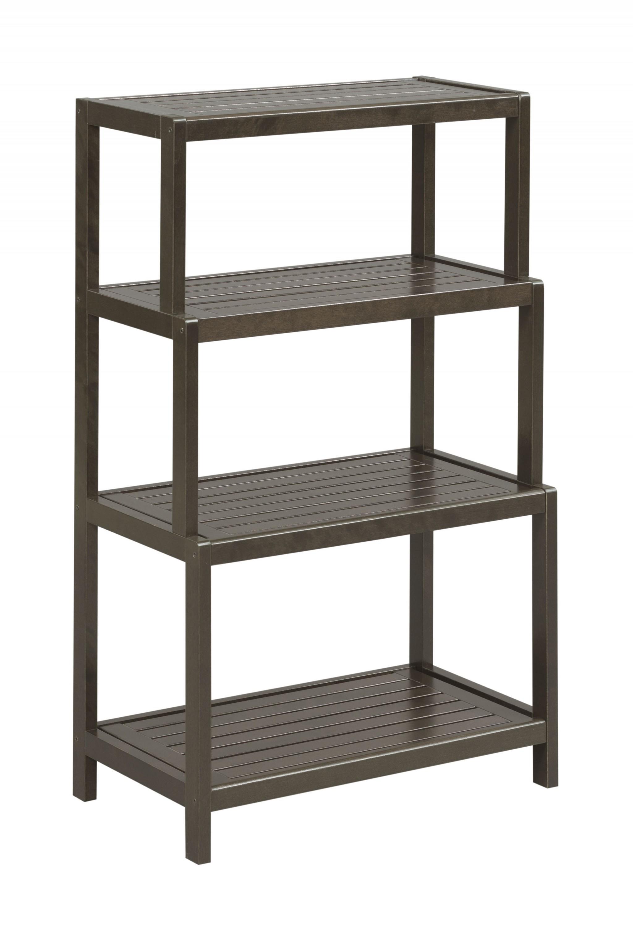 "37"" Bookcase with 4 Shelves in Espresso"